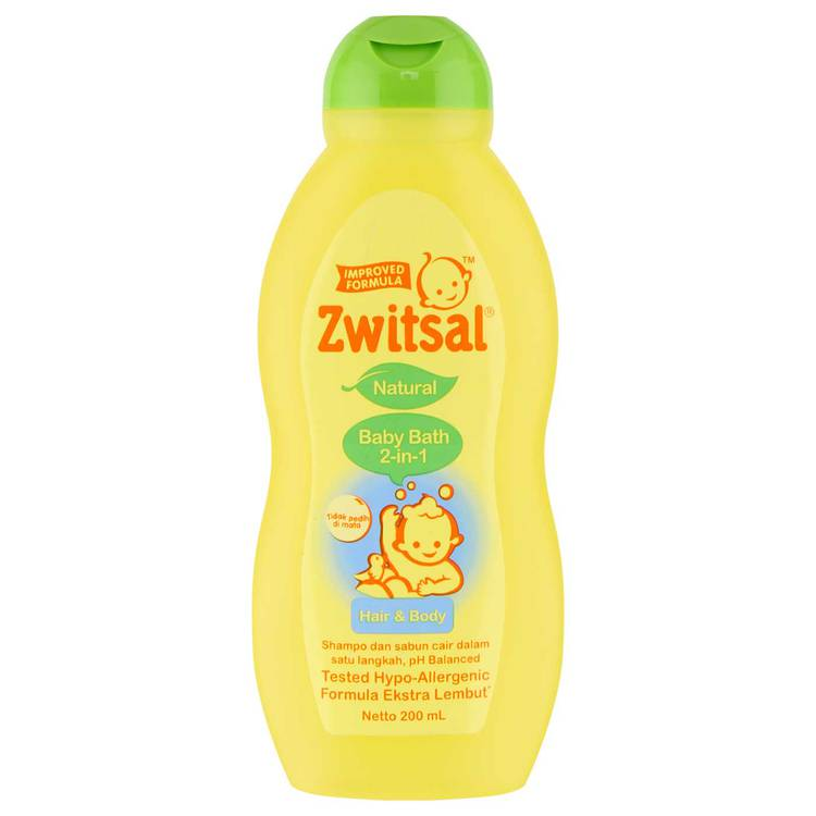 Zwitsal Natural Baby Bath 2in1 Hair & Body 200ml Tub. placeholder. placeholder