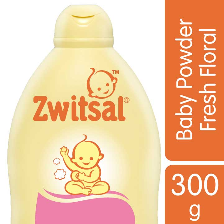 Zwitsal Classic Baby Powder Fresh Floral 300gr Tub