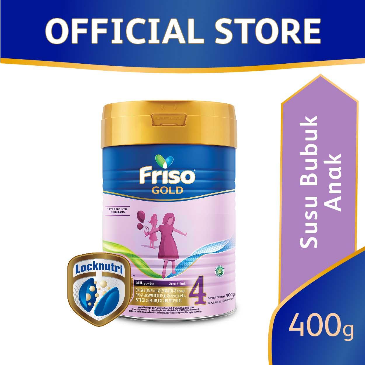Friso Gold 4 Plain 400gr Susu Formula Pertumbuhan Anak Usia 1-3 Tahun