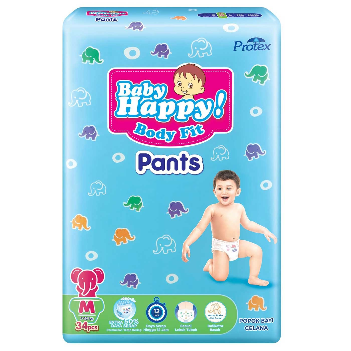 Baby Happy Pants M 34+4