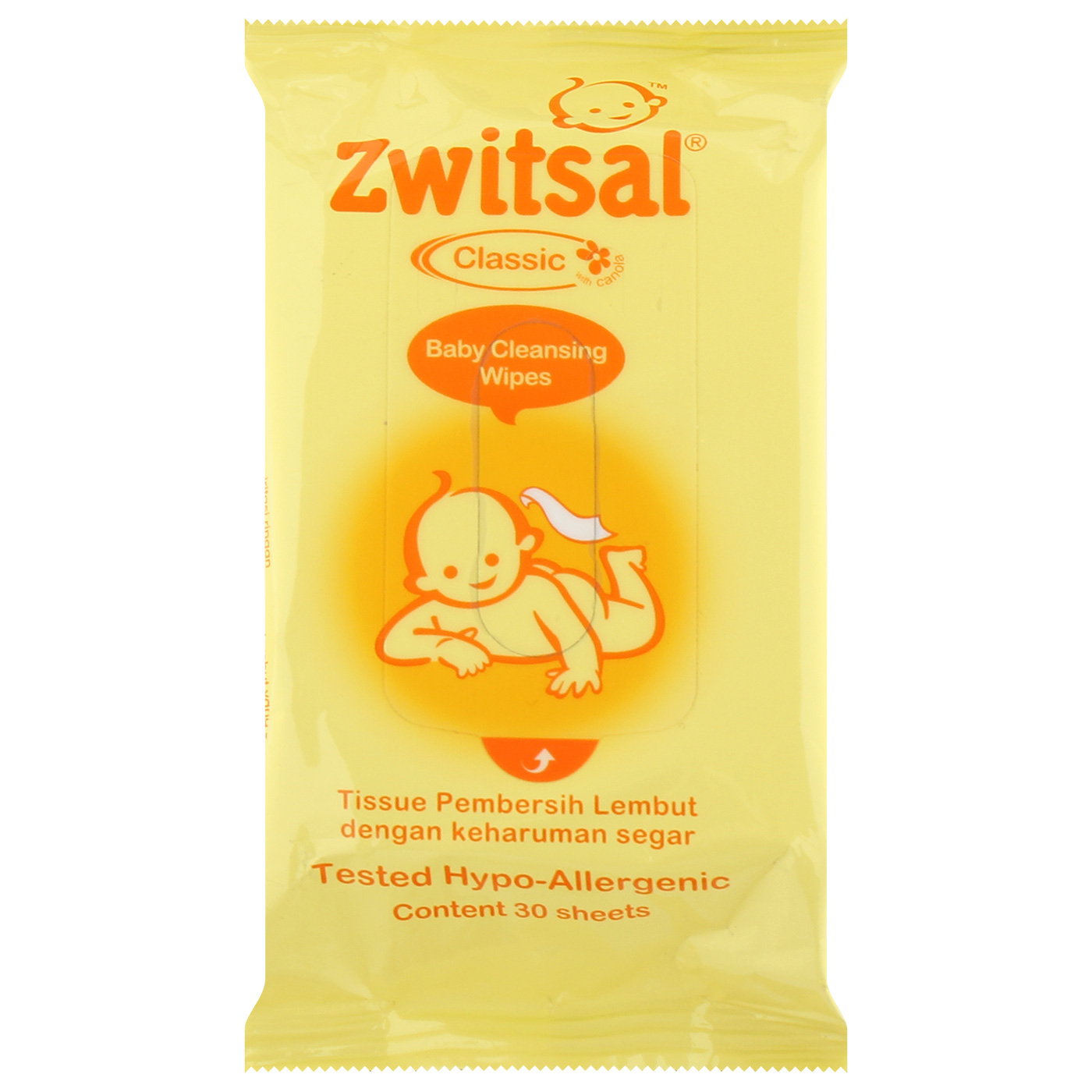 Zwitsal Baby Wipes Classic 30's