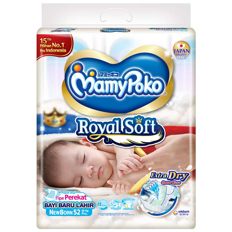 MamyPoko Tape Royal Soft NB 52