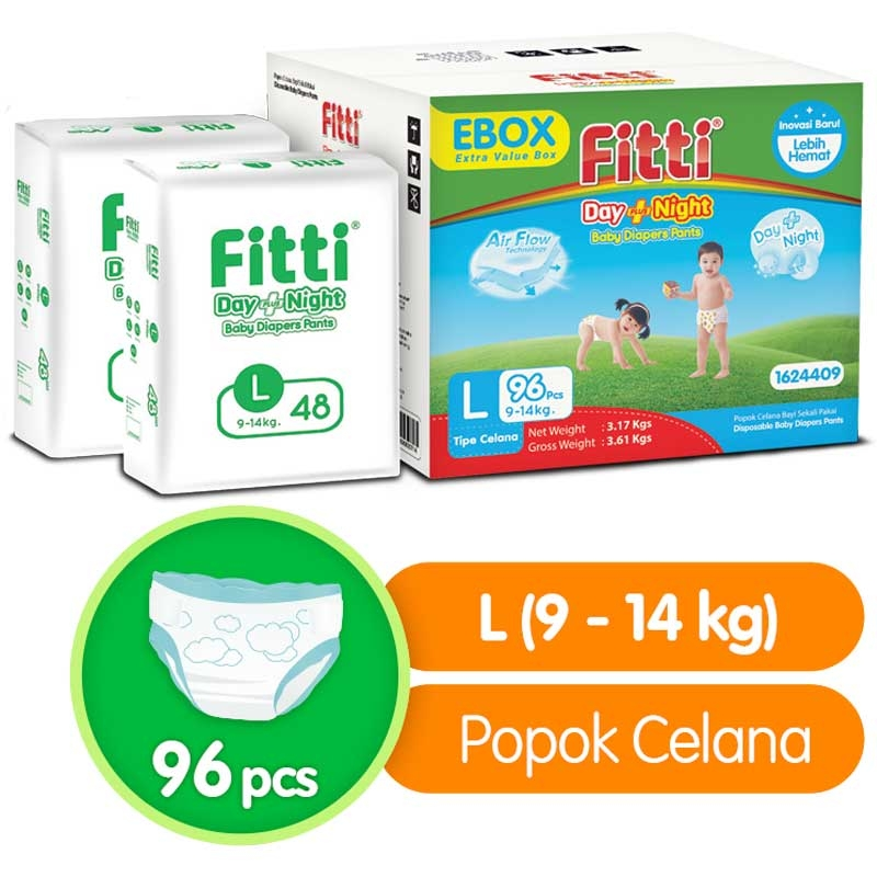 Fitti Day & Night Ebox L 96 pcs