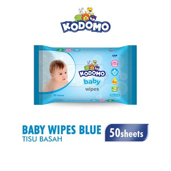 Kodomo Wet Wipes Blue 50Sheet