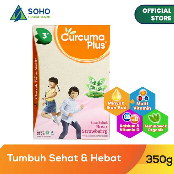 Curcuma Plus Susu Bubuk Ekstrak Temulawak - Strawberry 350g