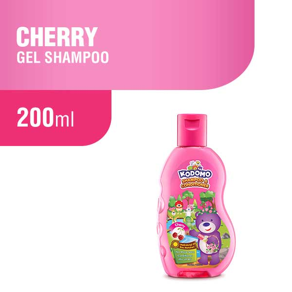 Kodomo Shampoo Gel Cherry Botol 200 ml