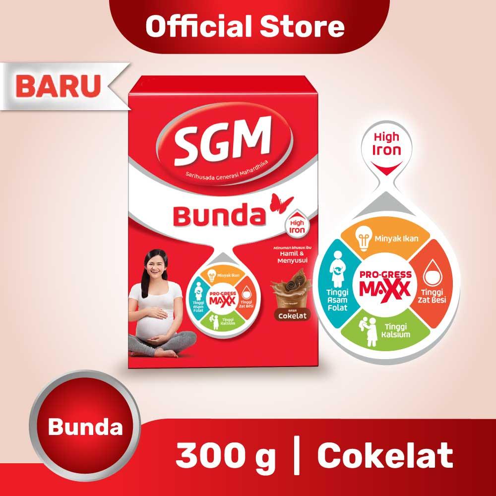 SGM Bunda Pro-GressMaxx Tinggi Zat Besi Cokelat Susu Bubuk  300gr