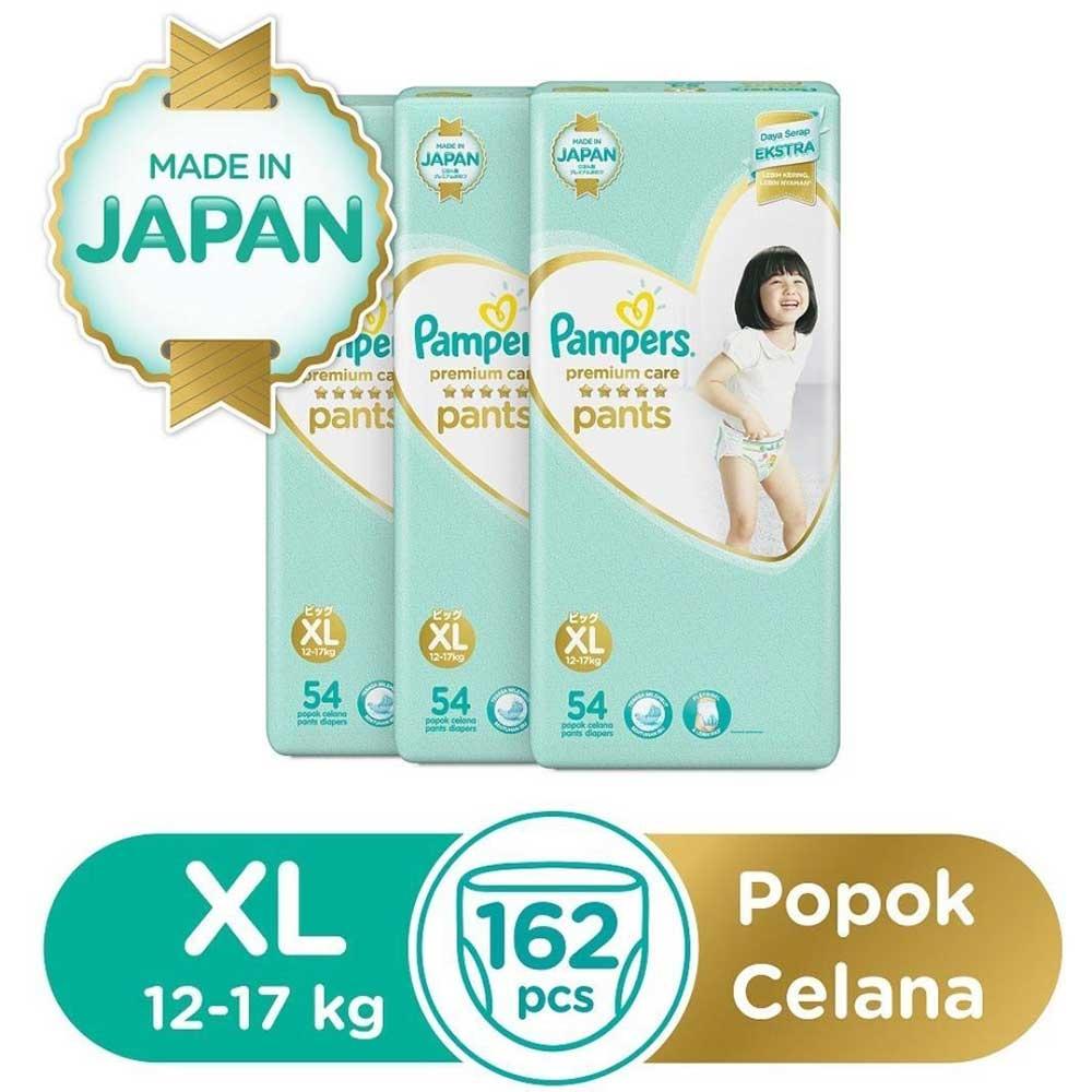 Pampers Premium Care Popok Celana XL-54x3 1