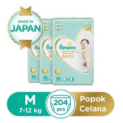 Pampers Premium Care Popok Celana M-68x3 1