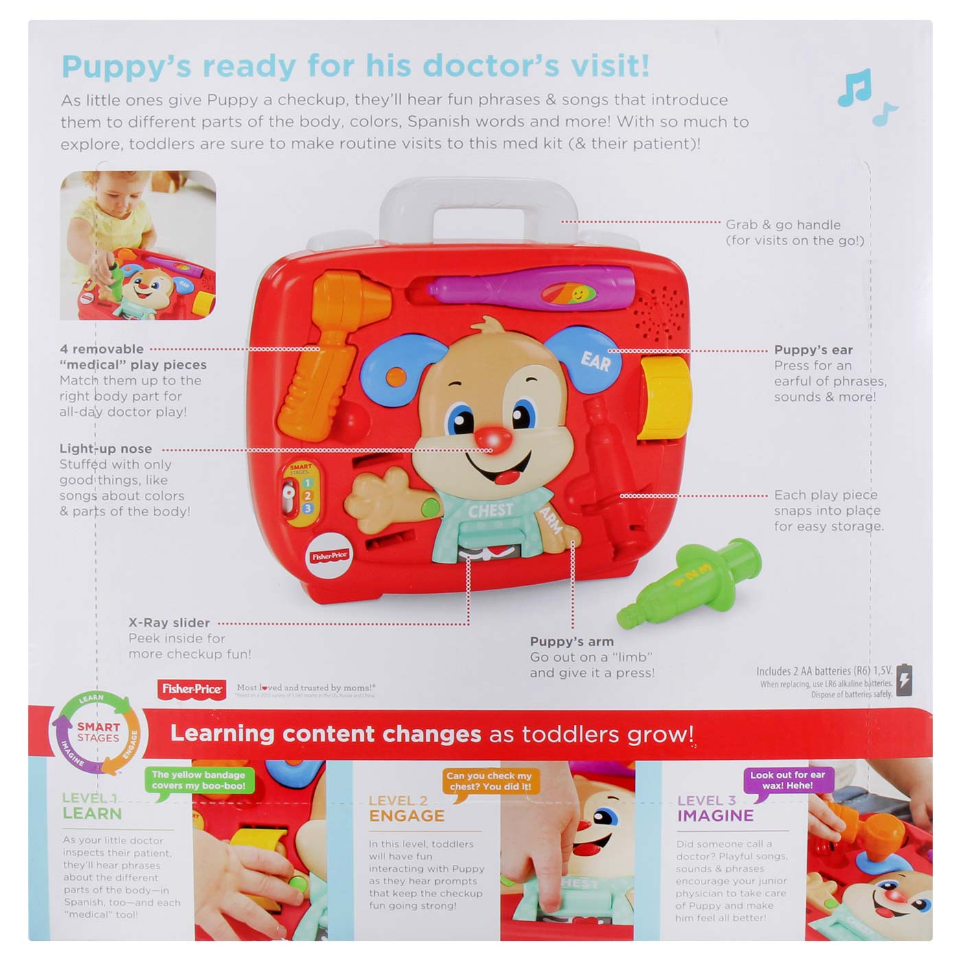 Fisher Price FF  Smart Stages Puppy's Check Up Kit 5