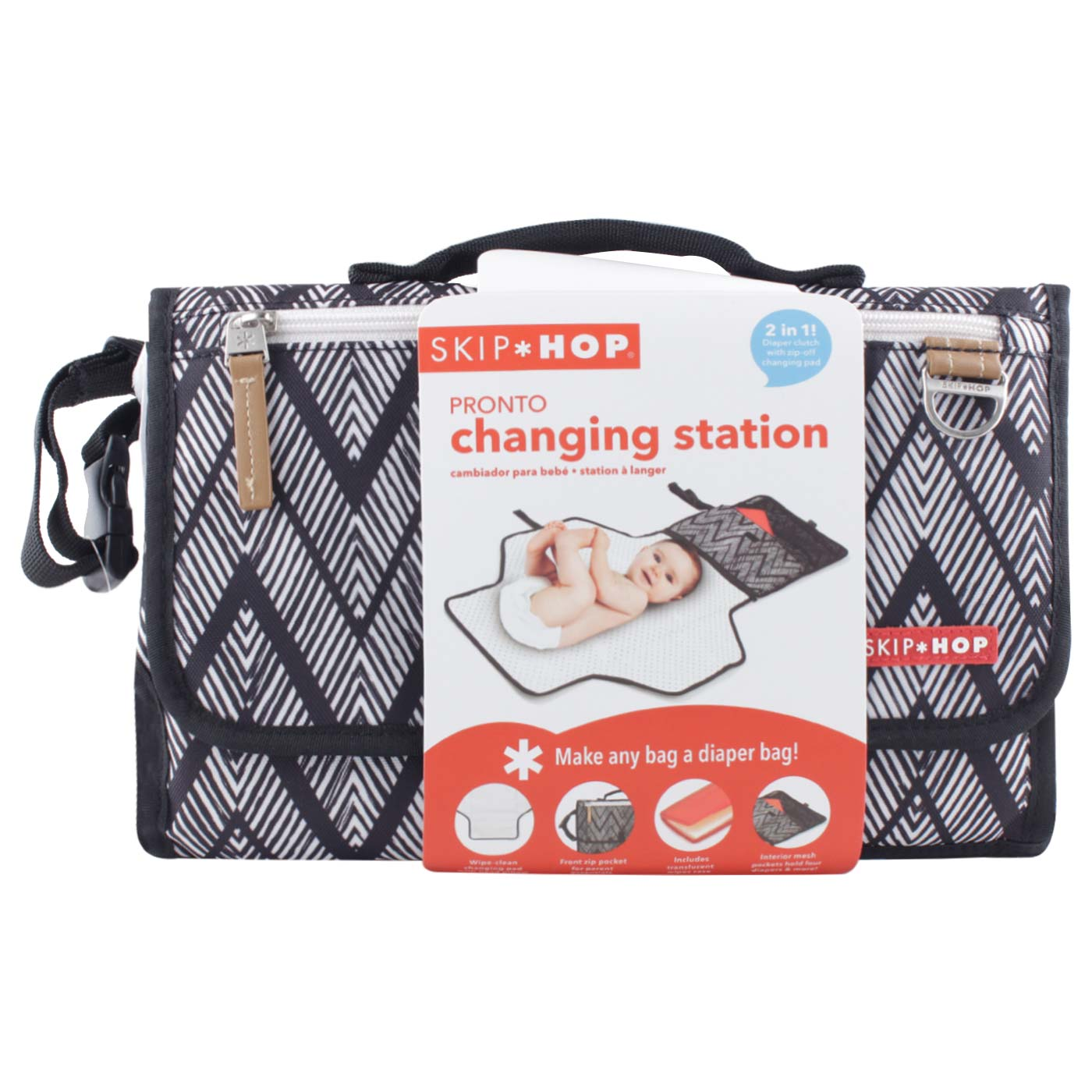 SkipHop Pronto Changing Station - Zig Zag Zebra 2