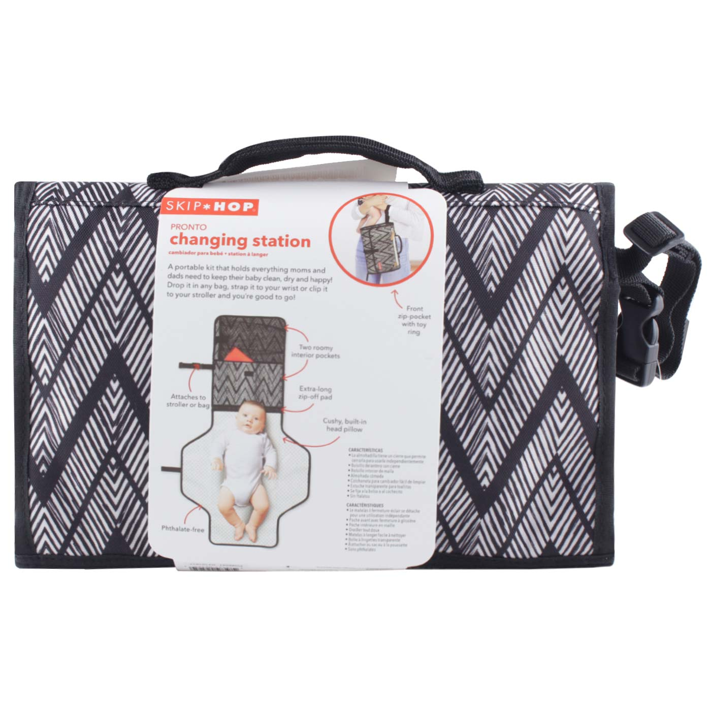 SkipHop Pronto Changing Station - Zig Zag Zebra 3