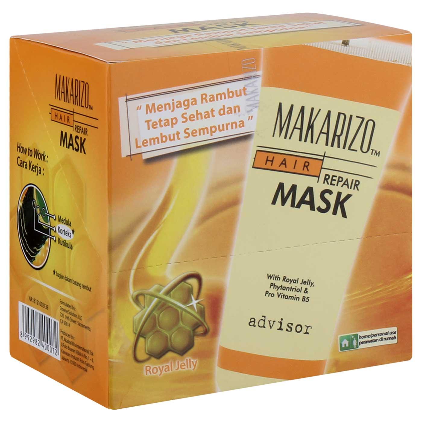 Jual Makarizo Advisor Hair Repair Mask Sachet 15 Ml X 12sachet Sampo Perawatan Rambut Termurah Harga Promo