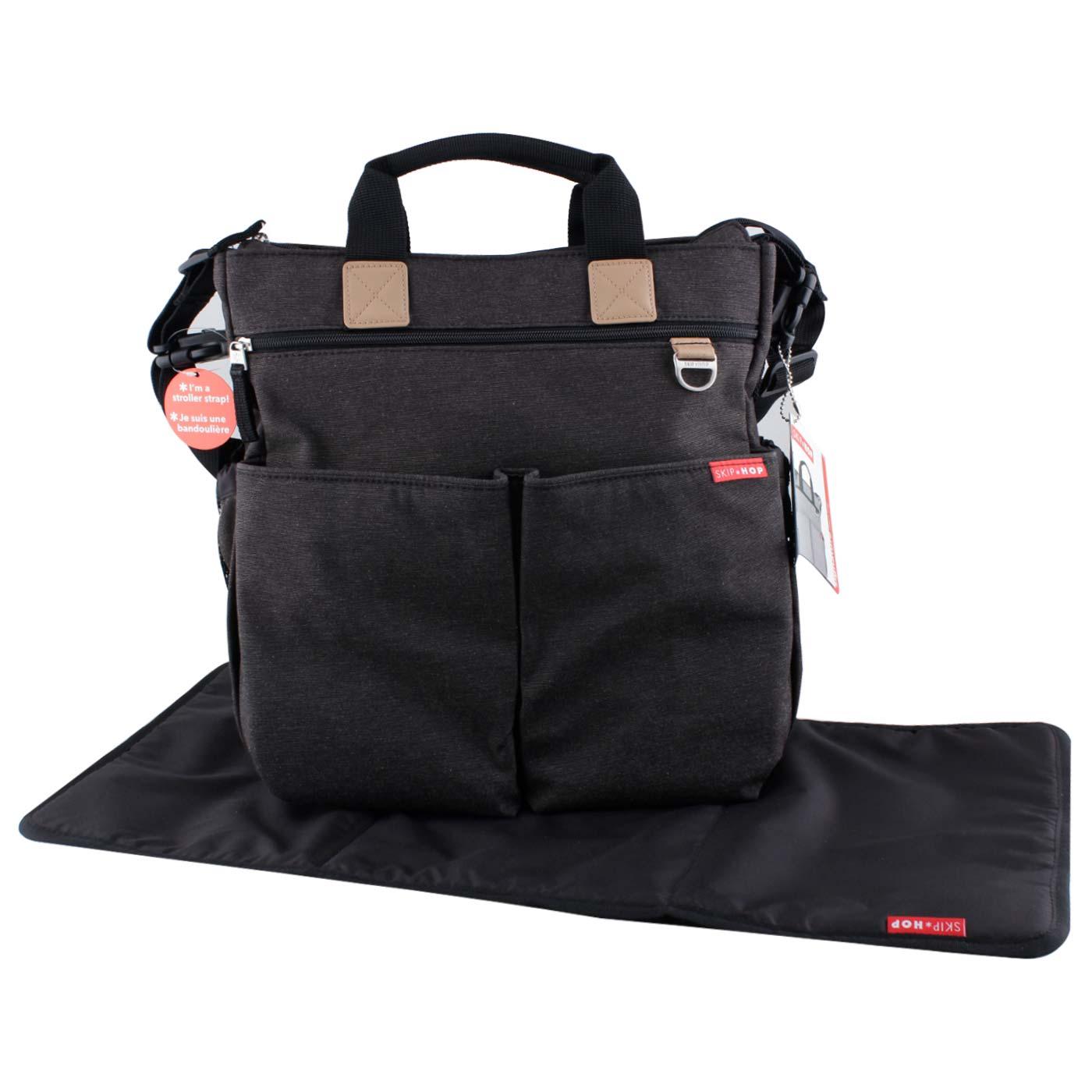 Skiphop Duo Signature Diaper Bag Soft Slate 1