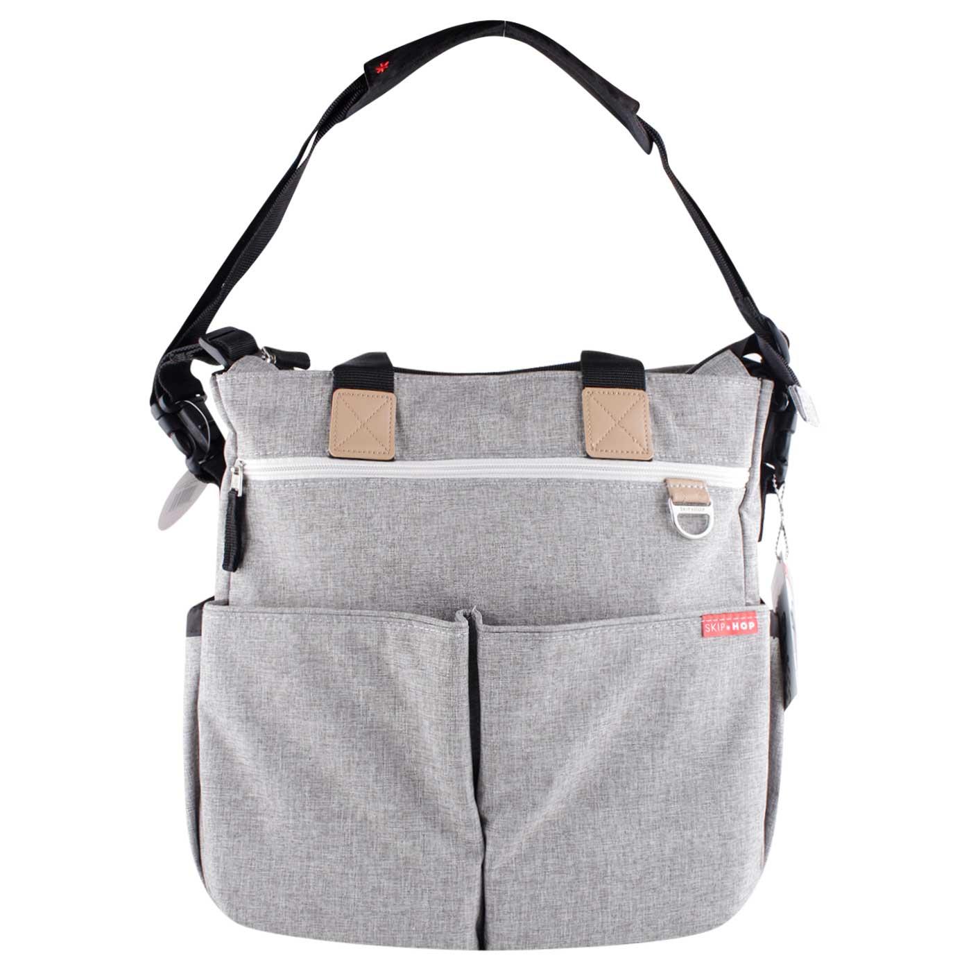 Skiphop Duo Signature Diaper Bag Grey Melange 2