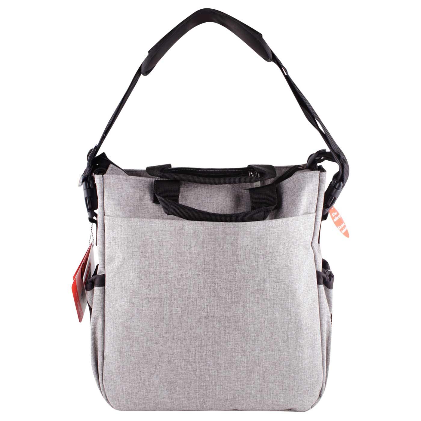 Skiphop Duo Signature Diaper Bag Grey Melange 3