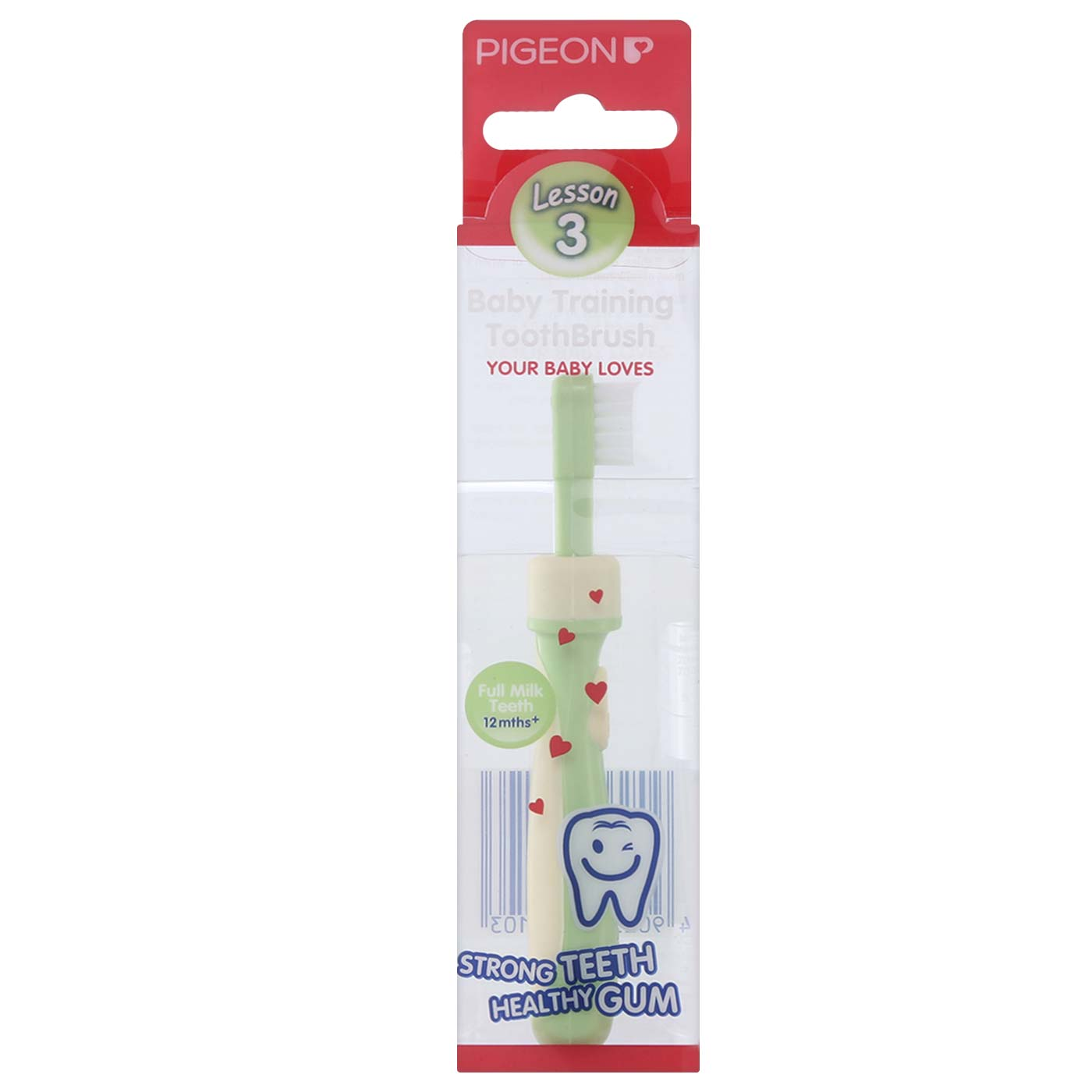 Pigeon Training Toothbrush Lesson - 3 Lime Green