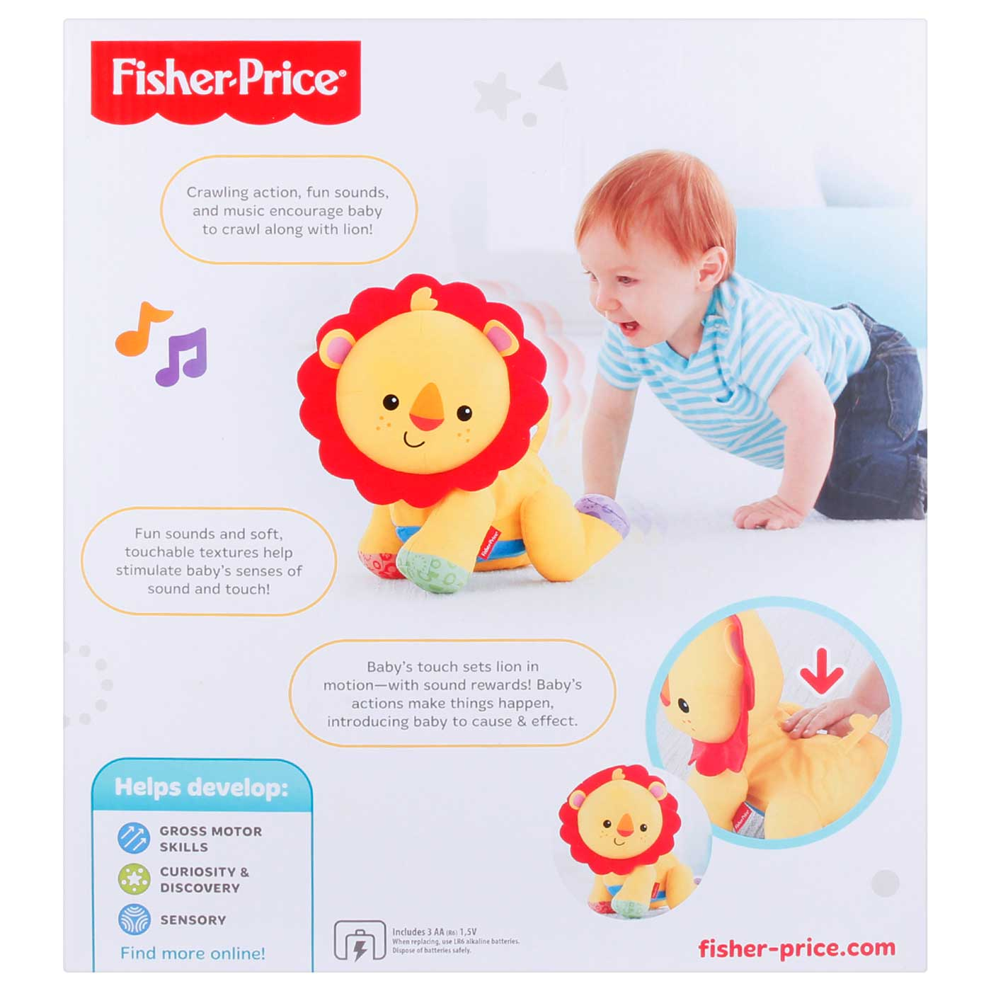 Fisher Price Infant Touch And Crawl Lion 4