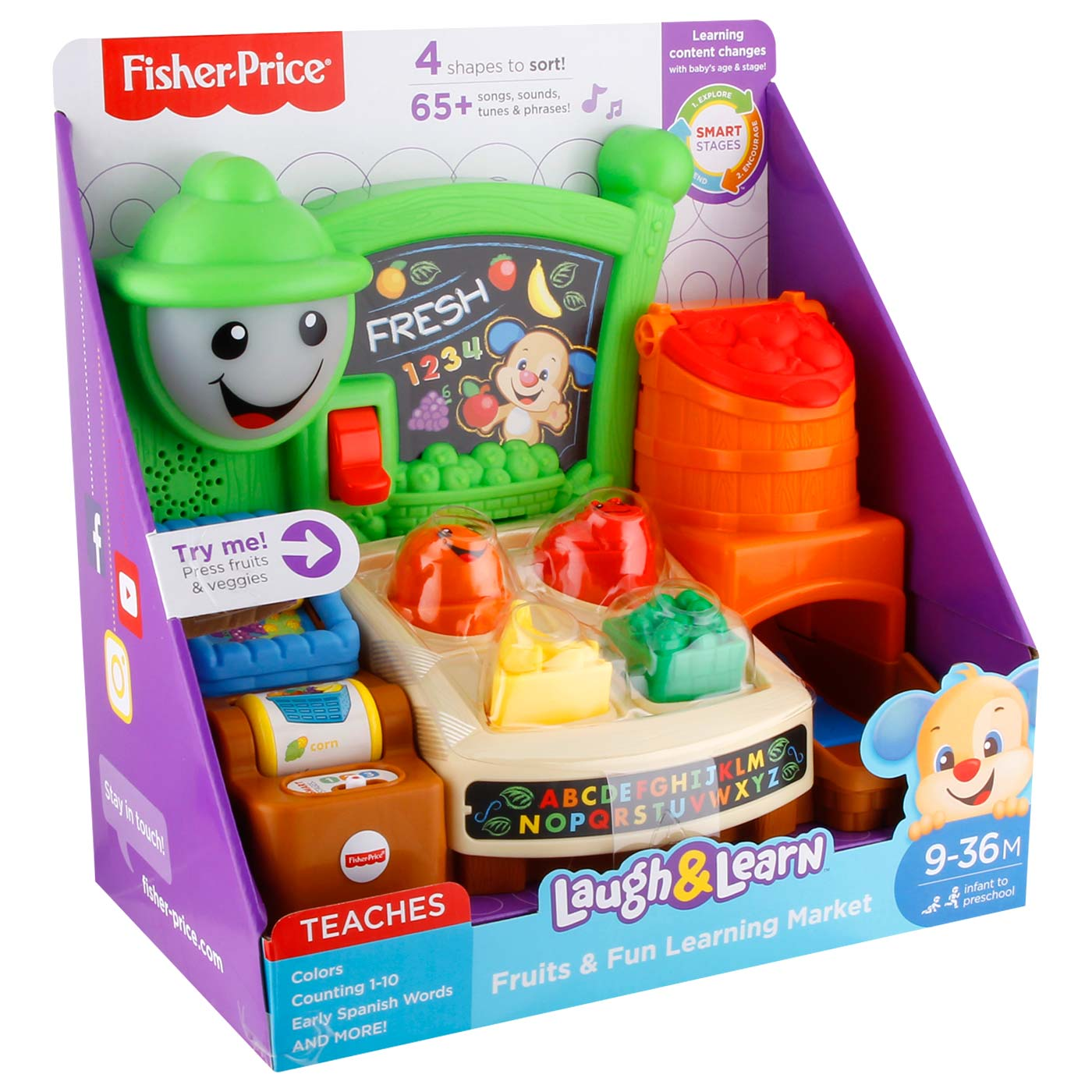 Fisher Price L&L Fruits N Fun Learning Market 2