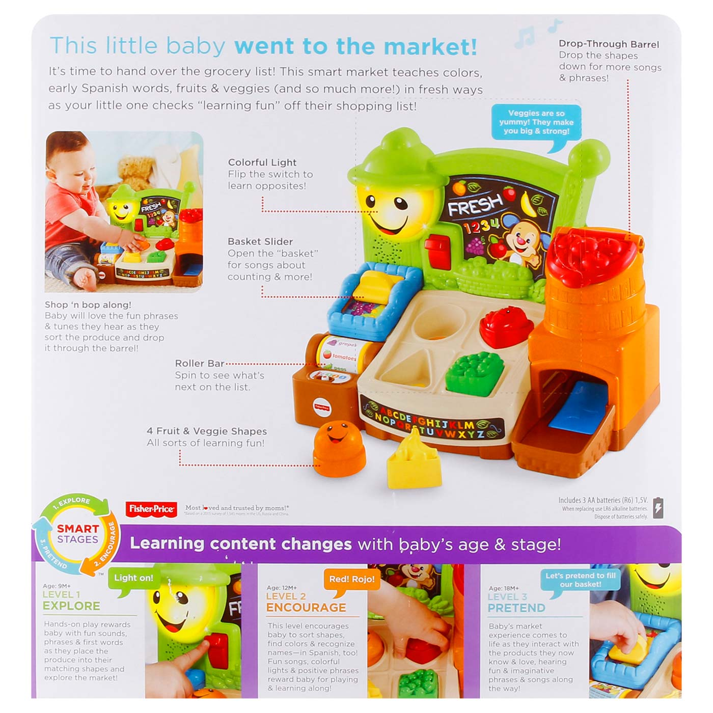 Fisher Price L&L Fruits N Fun Learning Market 3