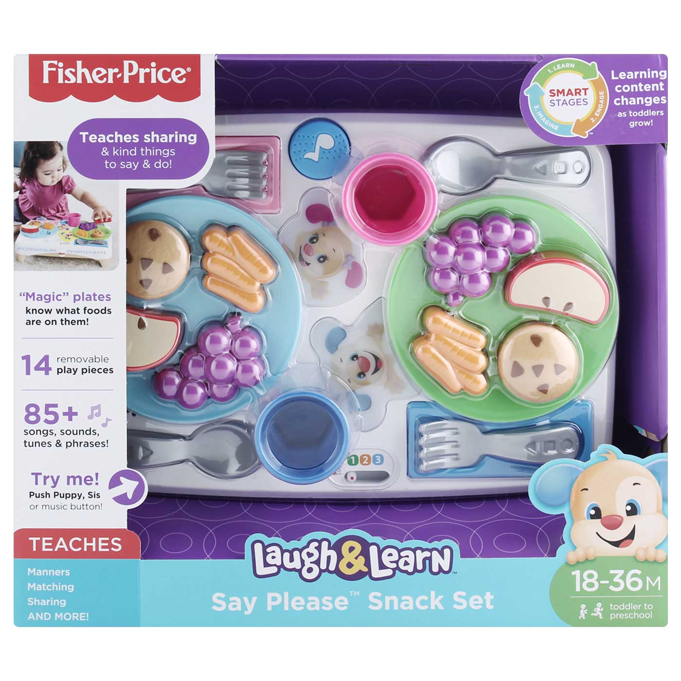 Fisher Price Laugh & Learn Say Please Snack Set 2