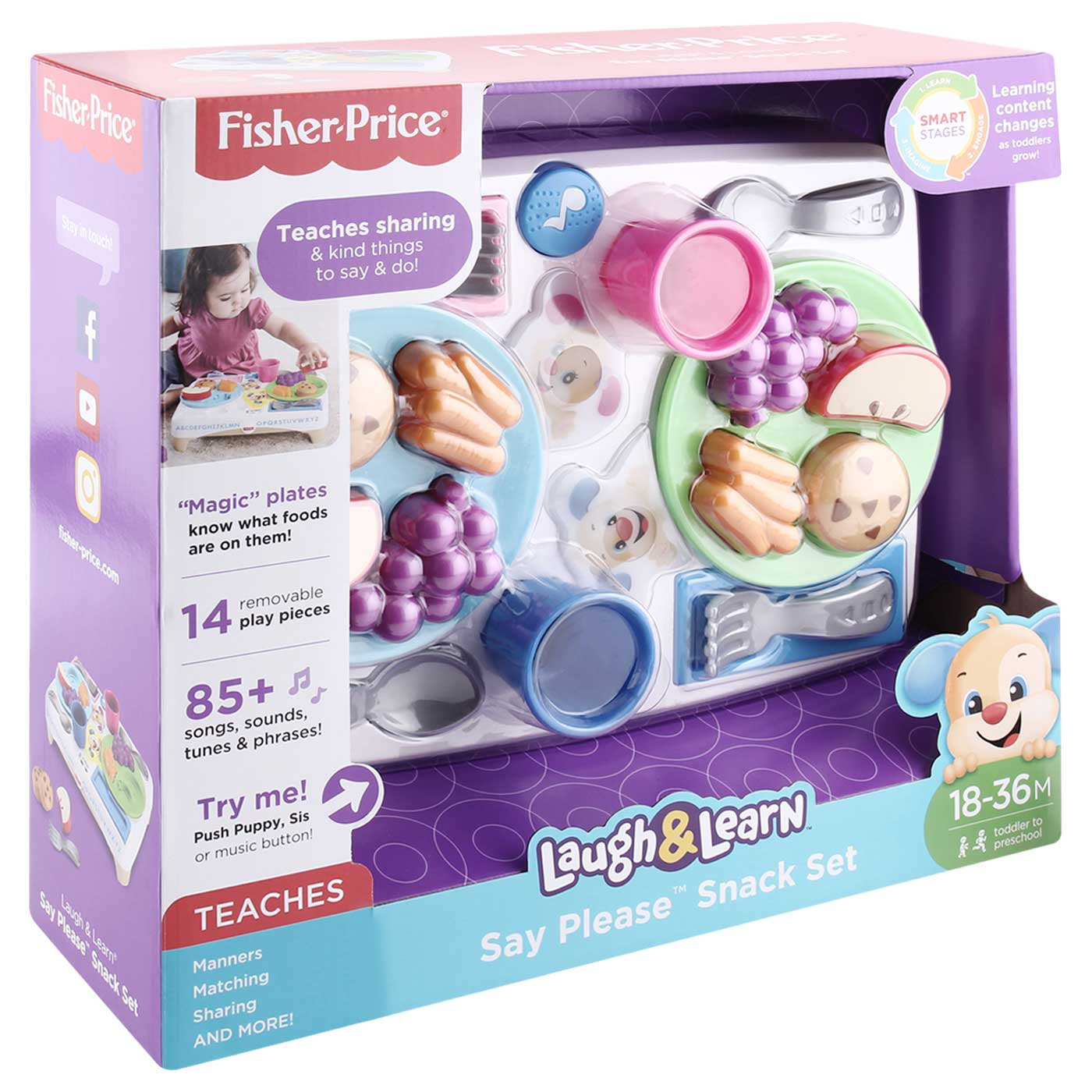 Fisher Price Laugh & Learn Say Please Snack Set 3