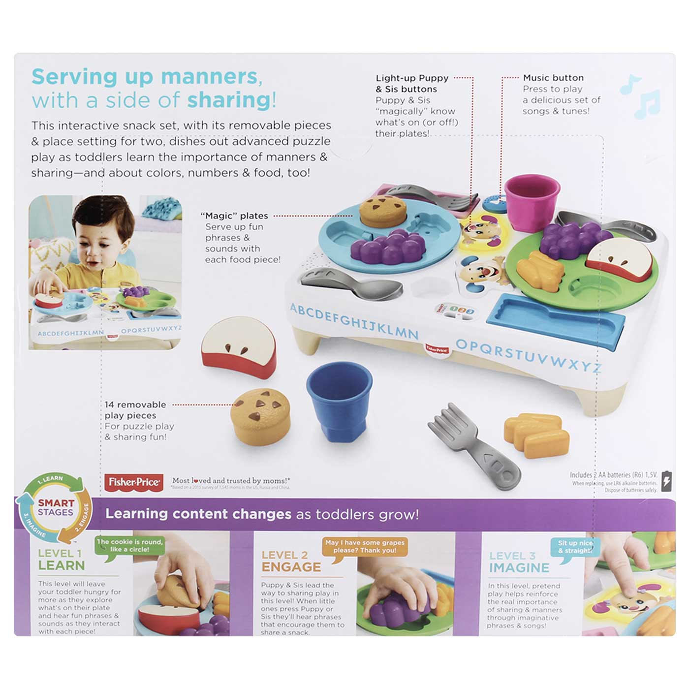 Fisher Price Laugh & Learn Say Please Snack Set 6