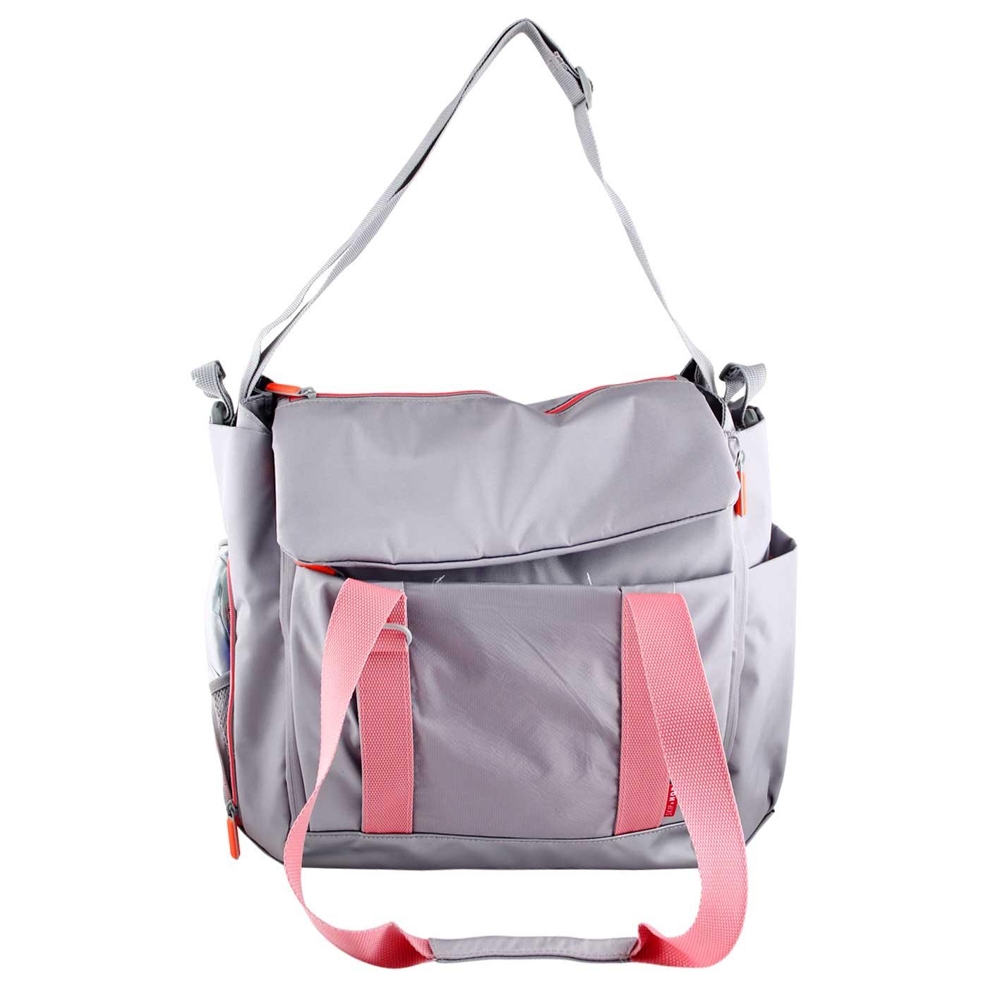 Skiphop Diaper Tote Bag Fit All Access - Platinum/Coral 1