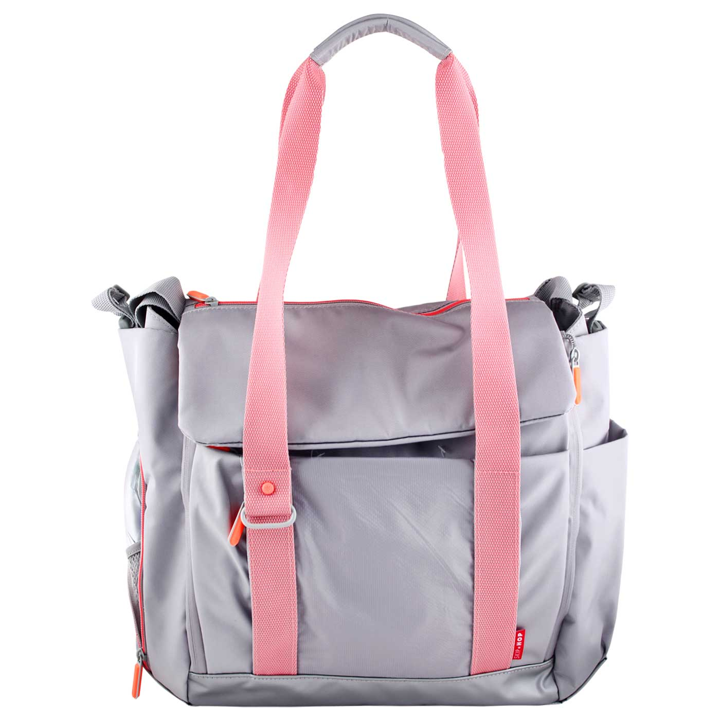 Skiphop Diaper Tote Bag Fit All Access - Platinum/Coral 2