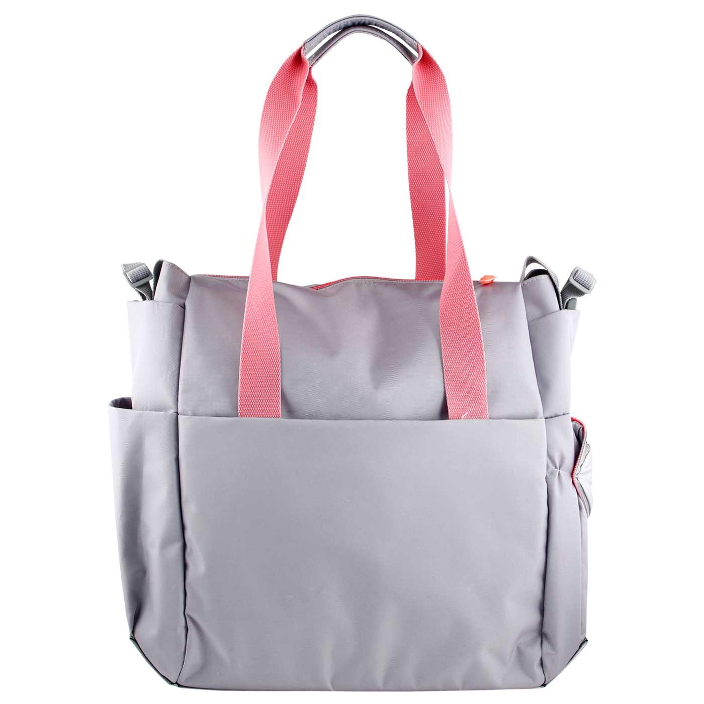 Skiphop Diaper Tote Bag Fit All Access - Platinum/Coral 5