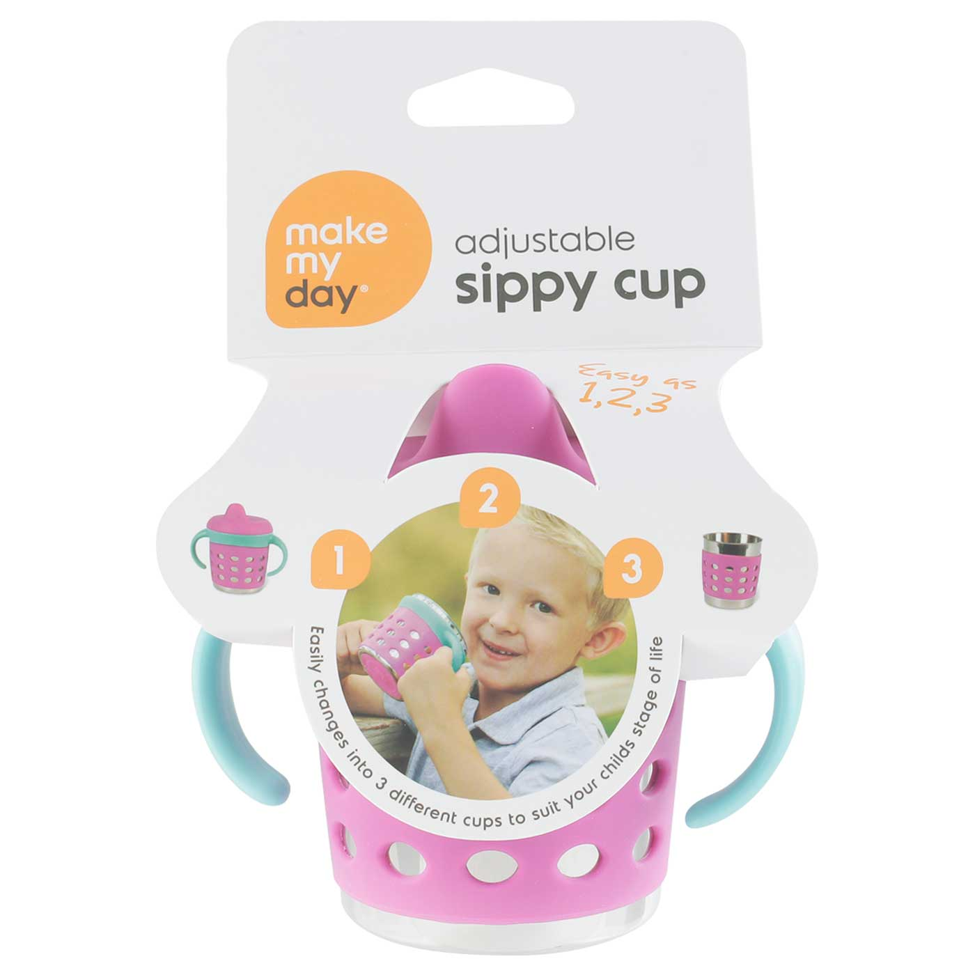 Make-My-Day Adjustable Sippy Cup - Blue/Purple
