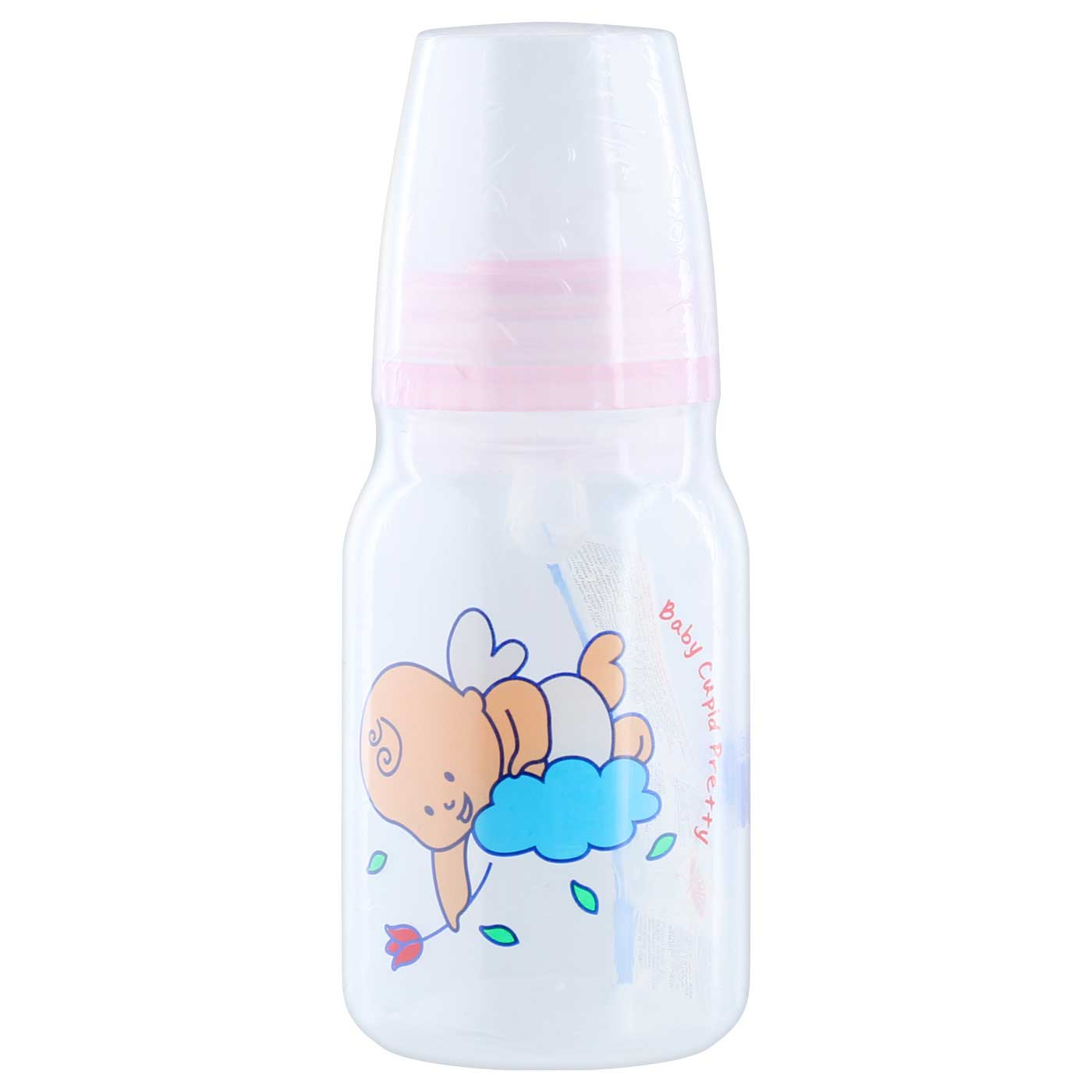 Huki PP Bottle Orthodontic Nipple 140ml Baby Cupid Pink