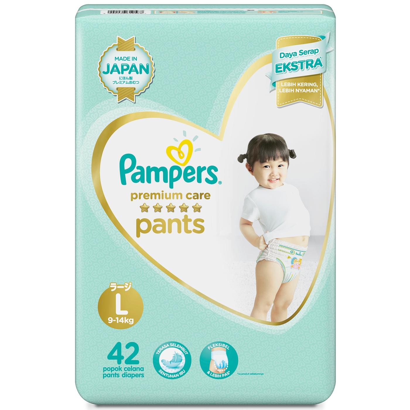 Pampers Popok Celana L-42 Premium Care 1