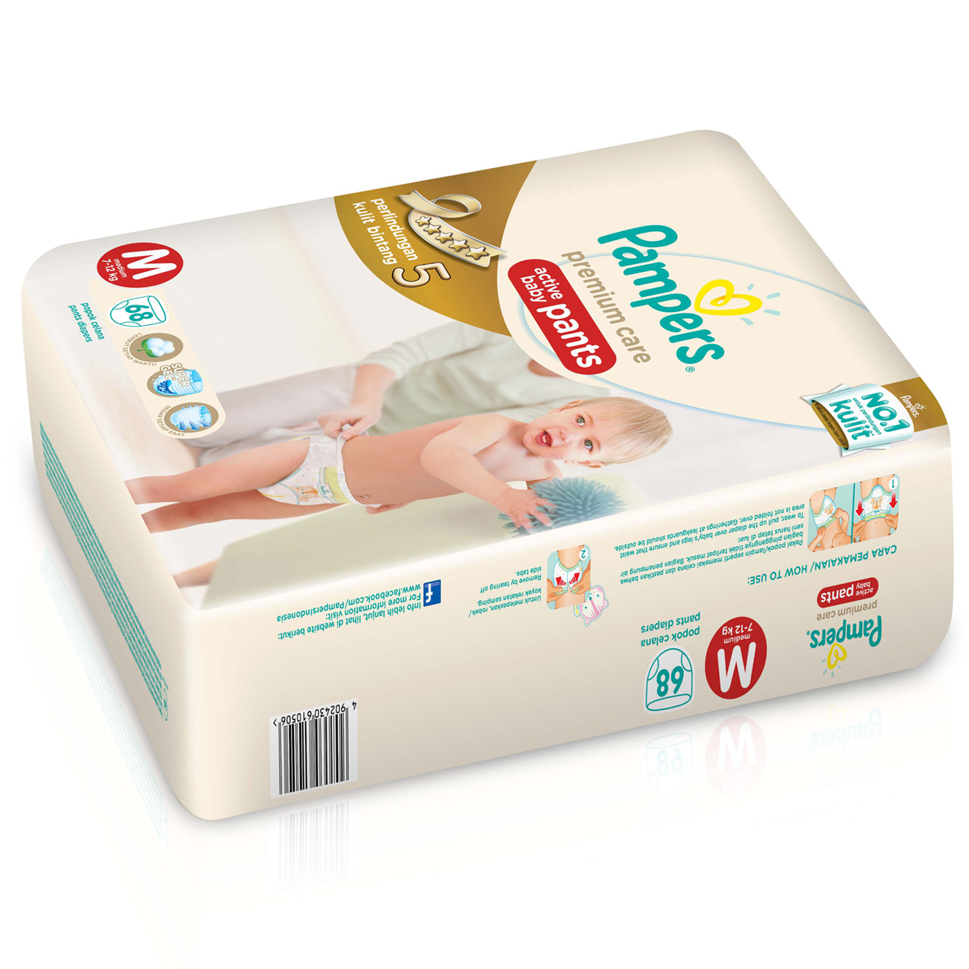 Pampers Popok Celana M-68 Premium Care 2