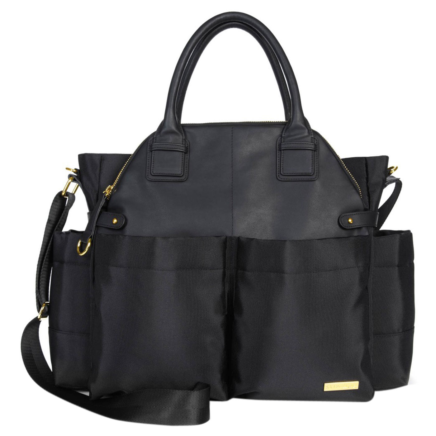 Skiphop Chelsea Downtown Chic Diaper Satchel Black 1