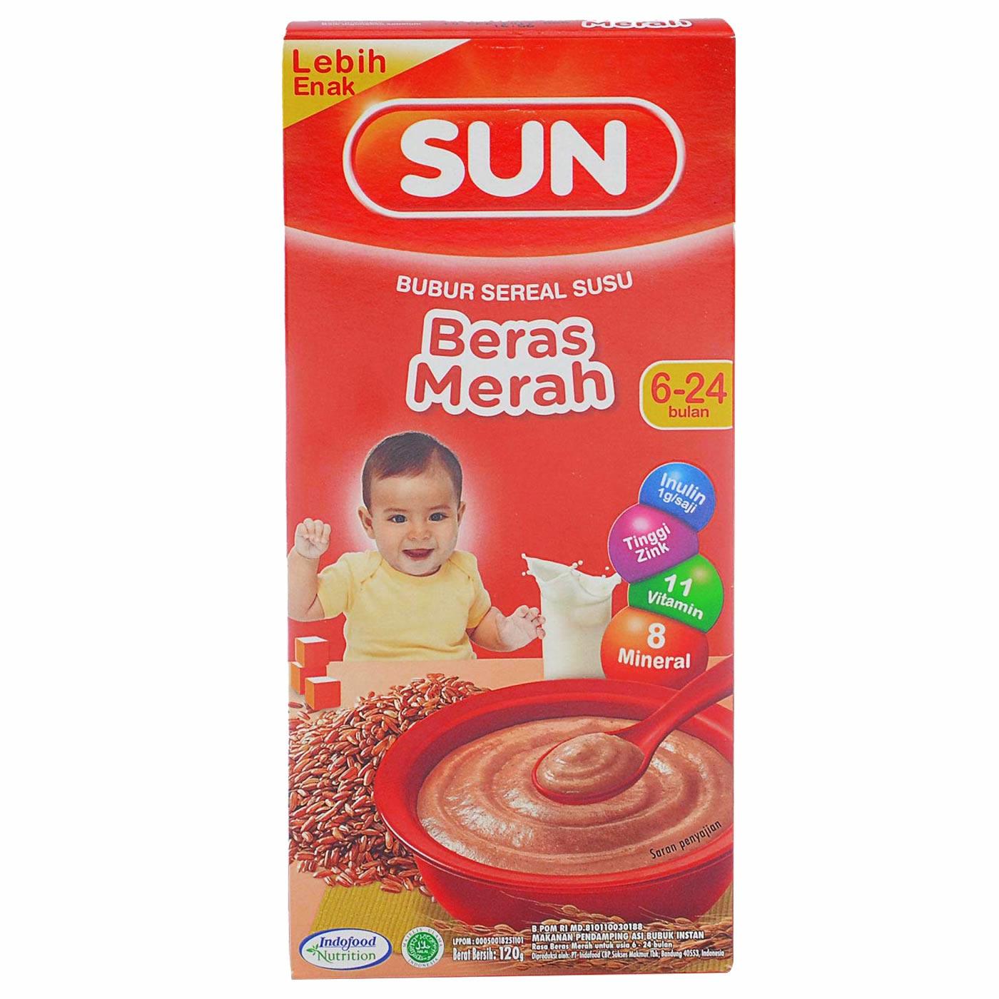 Sun Beras Merah Box 120gr