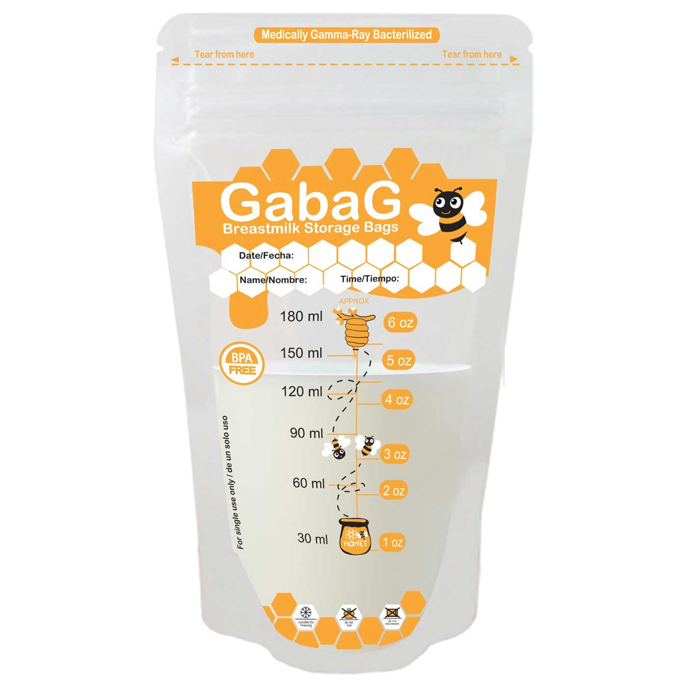 Gabag Breastmilk Storage 180ml