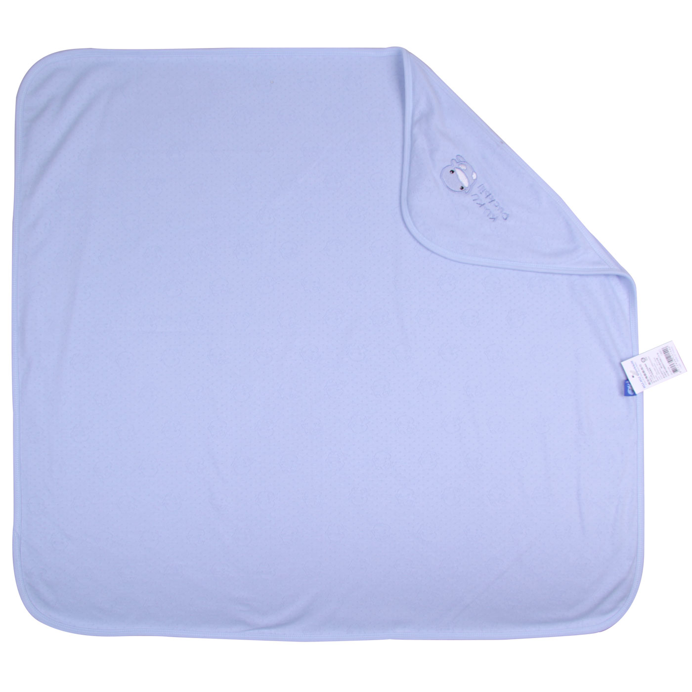 Kuku Duckbill Spring Receiving Blanket Solid Blue