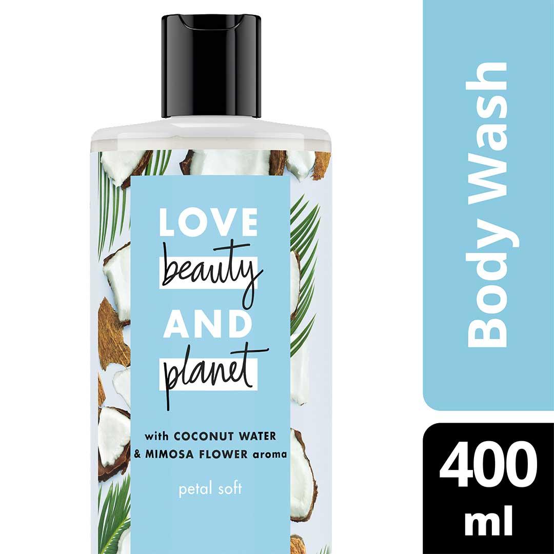 Love Beauty & Planet Petal Soft, Coconut Water & Mimosa Flower Body Wash 400ml