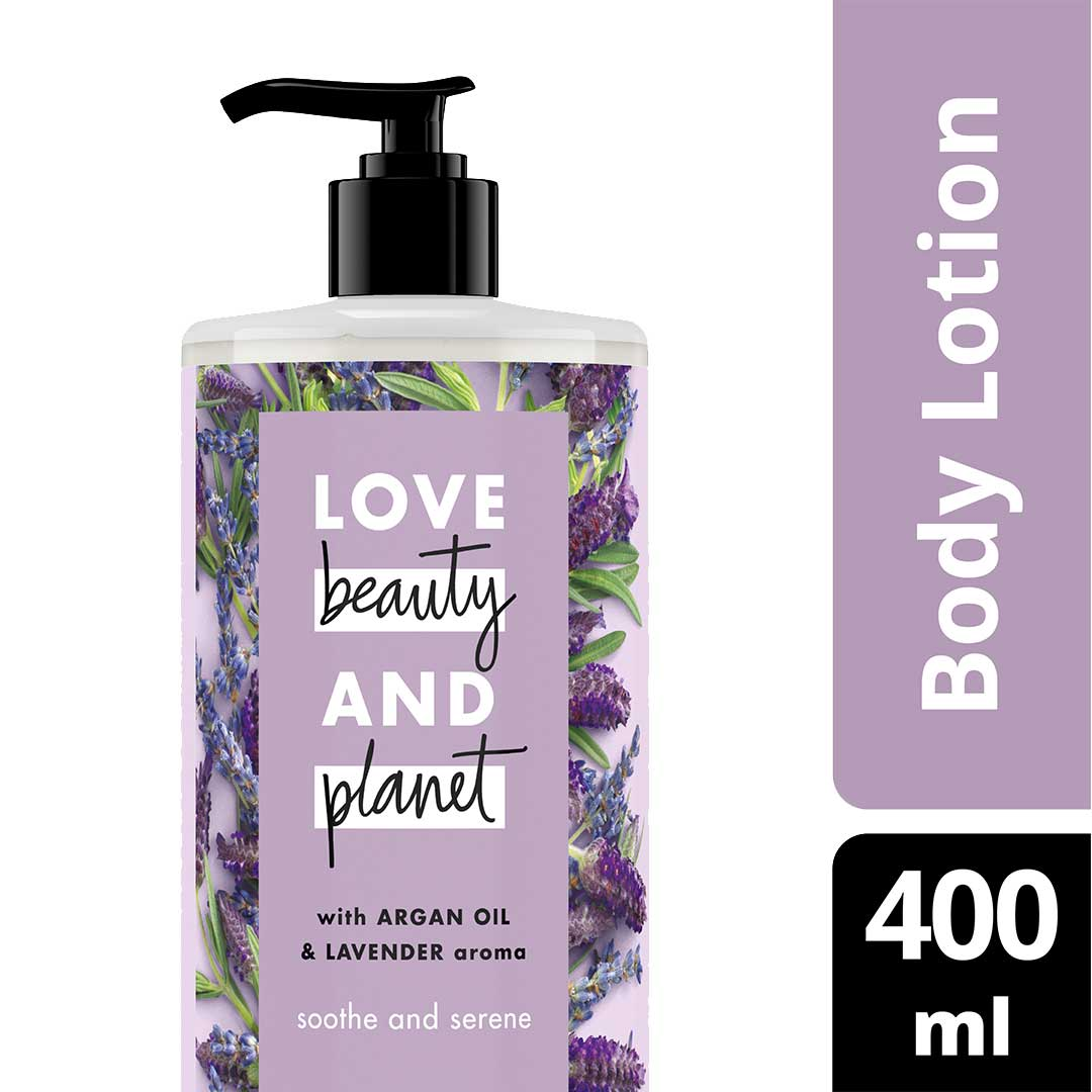 Love Beauty & Planet Sooth and Serene, Argan Oil & Lavender Body Lotion 400ml