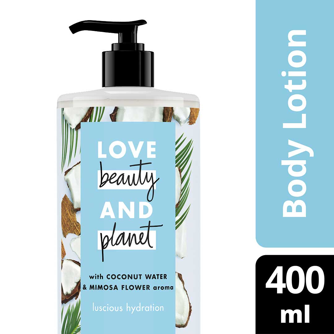Love Beauty & Planet Luscious Hydration, Coconut Water & Mimosa Flower Body Lotion 400ml