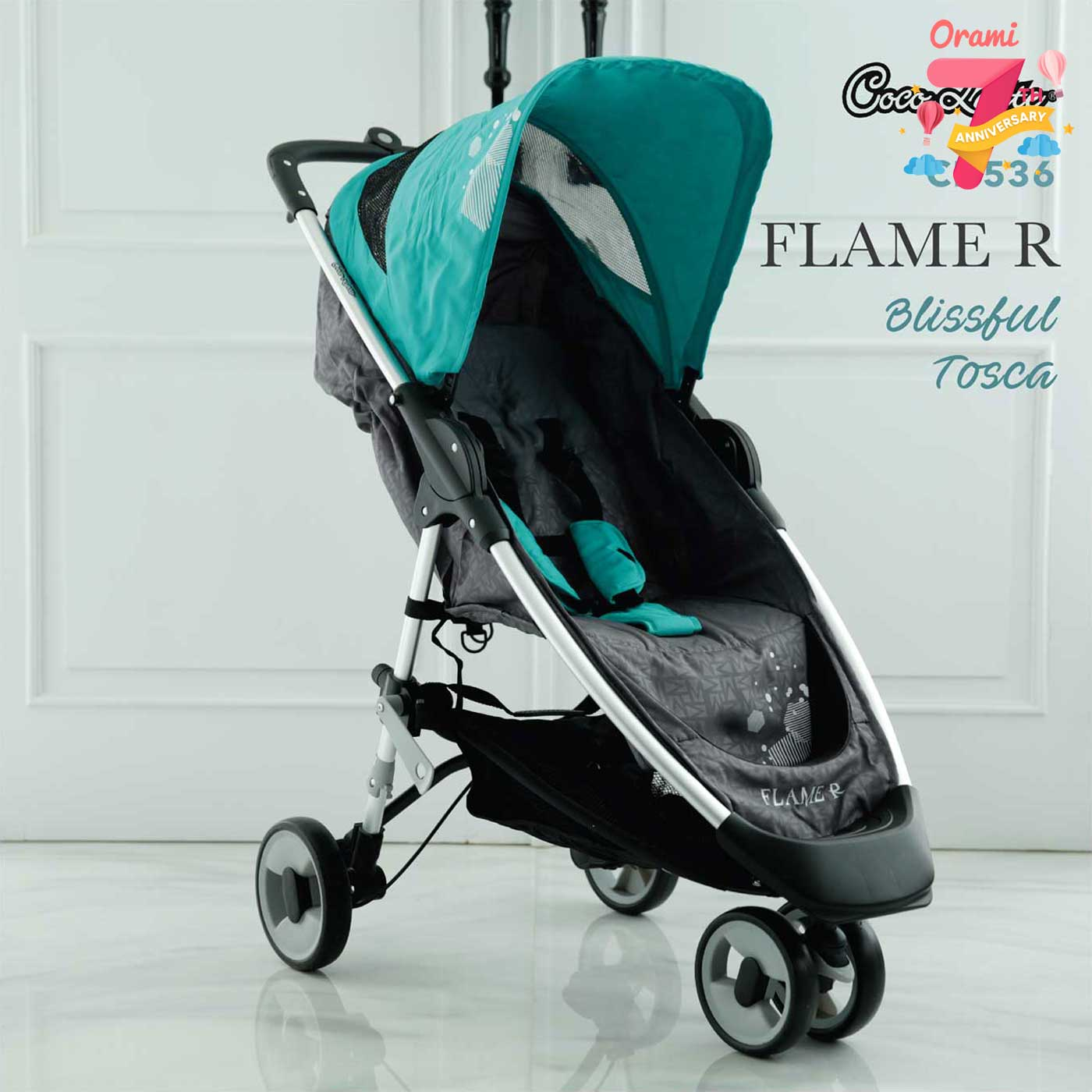 Promo Cocolatte Stroller CL 536 Flame R- Blissful Tosca
