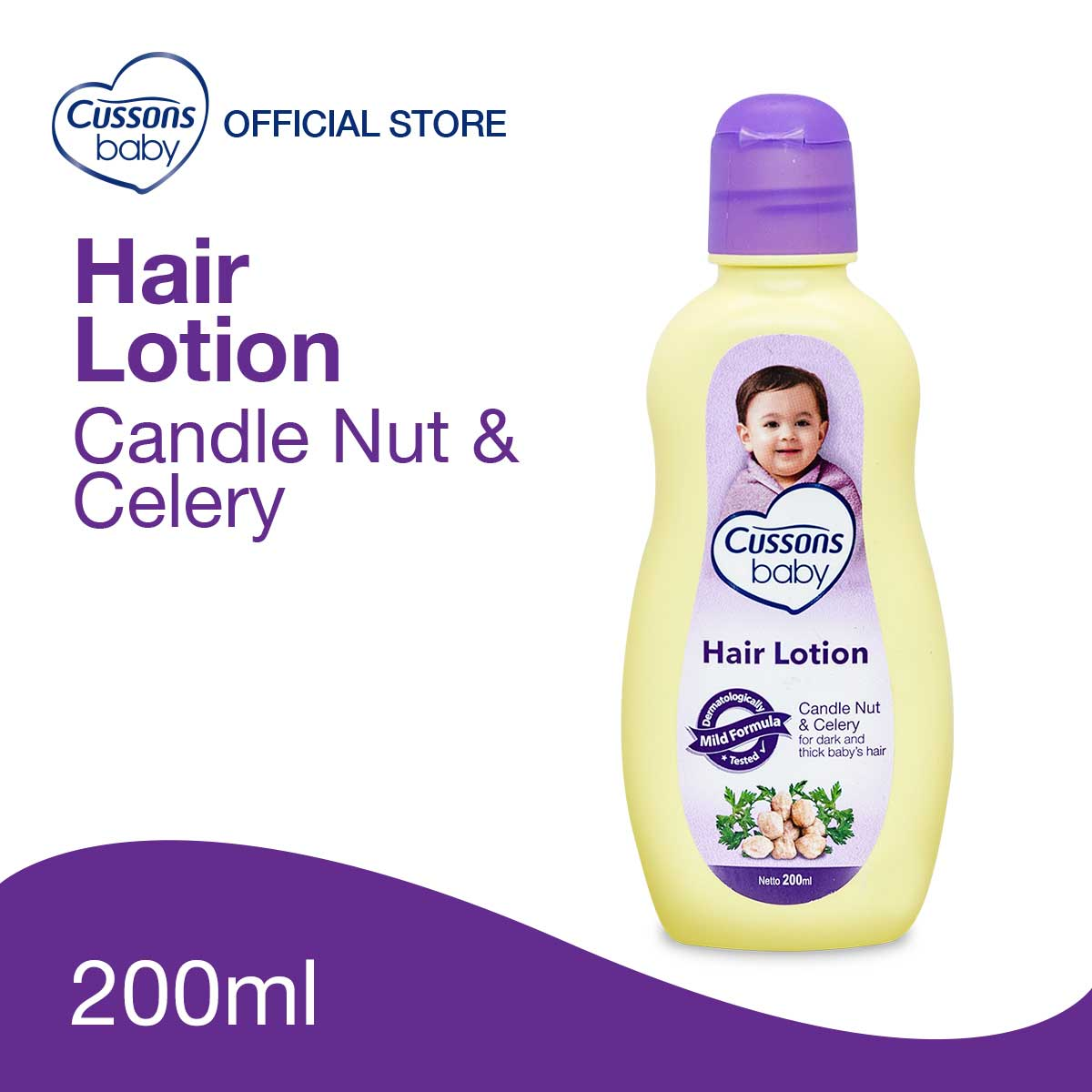 Cussons Baby Hair Lotion Candle Nut & Celery 200ml
