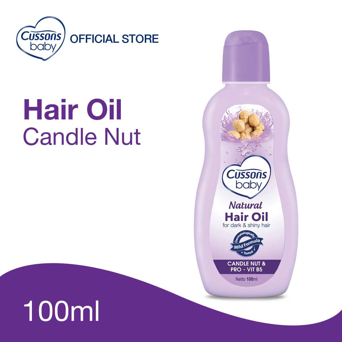 Cussons Baby Natural Hair Oil Candle Nut 100ml