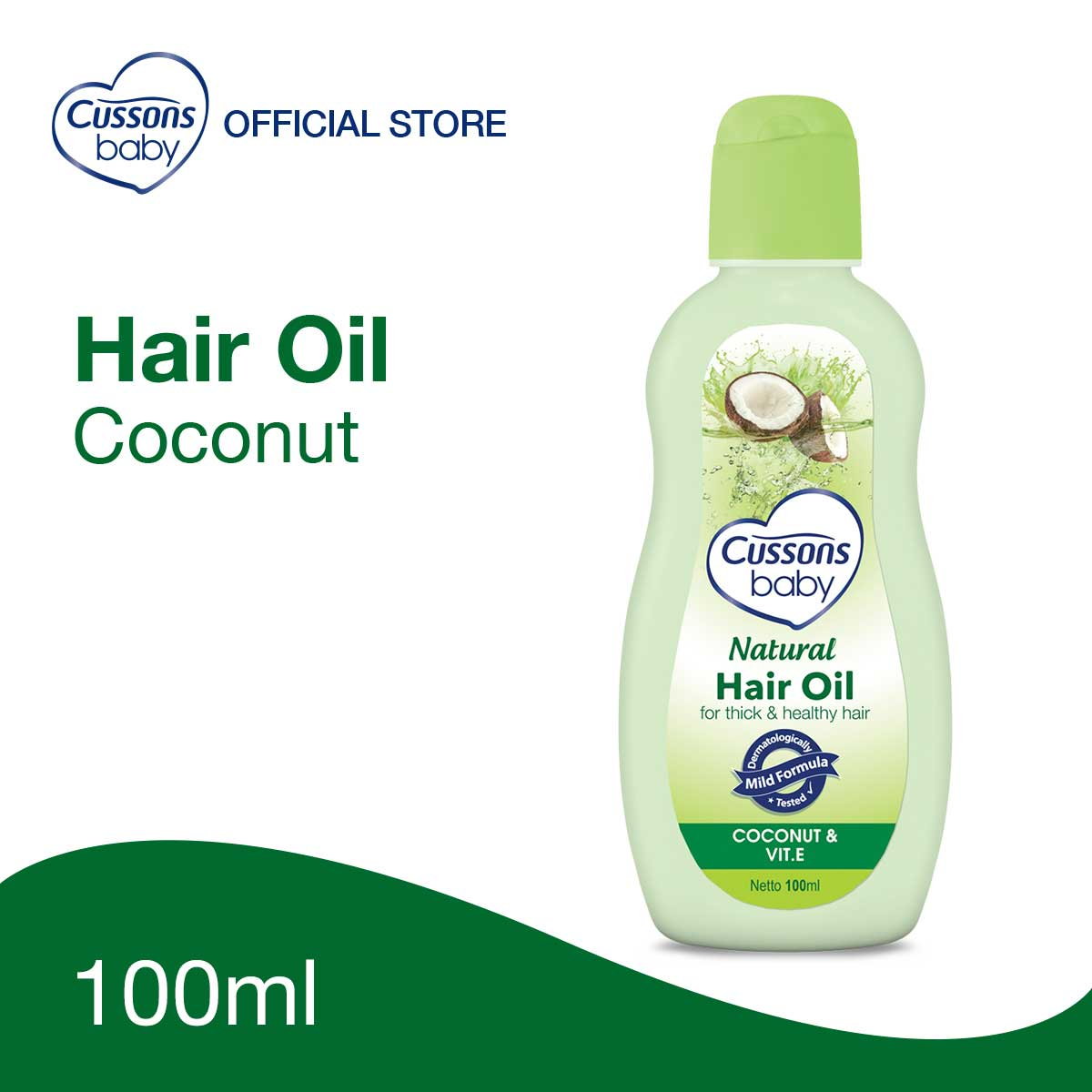 Cussons Baby Natural Hair Oil Coconut 100ml