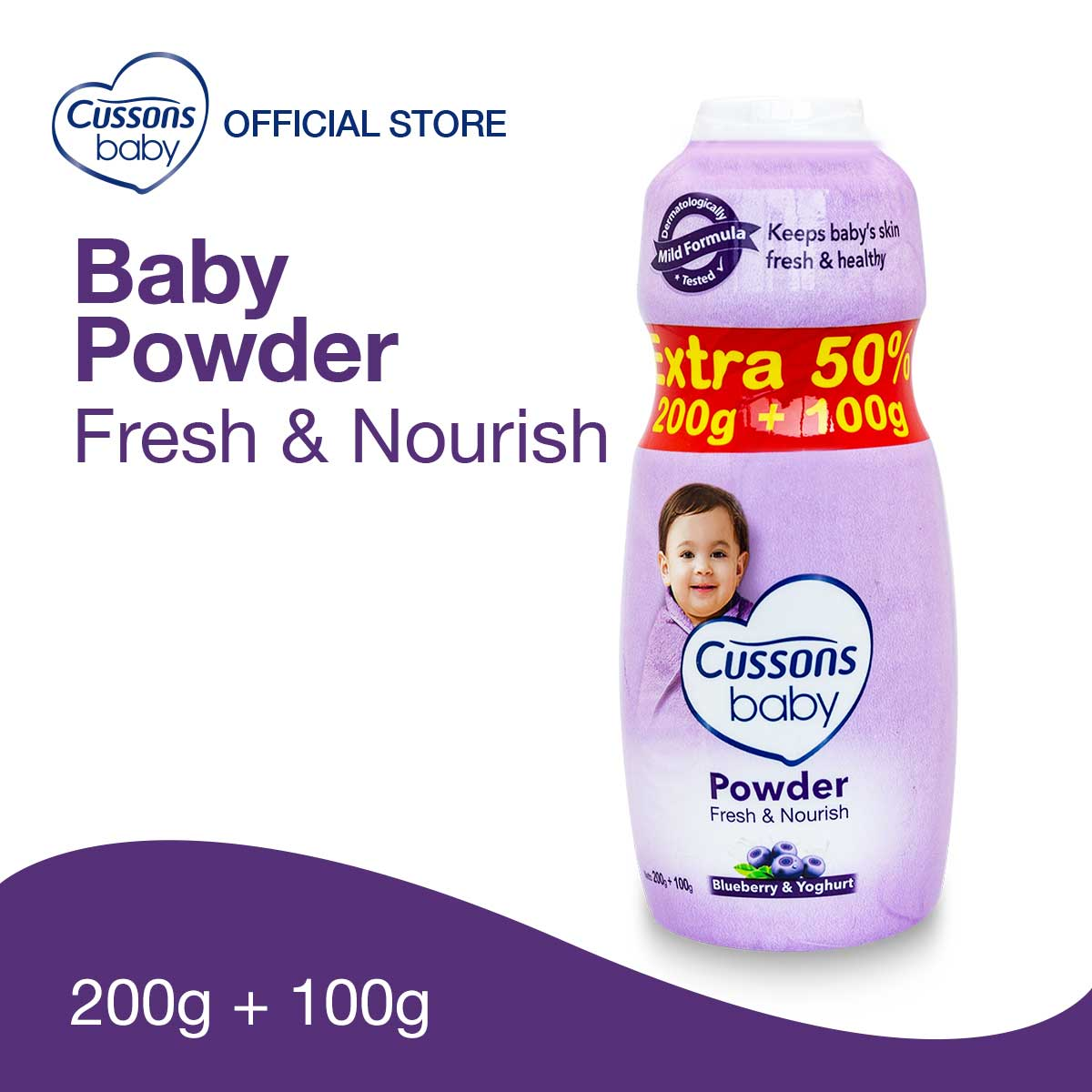 Cussons Baby Fresh & Nourish Powder 200gr Extra Fill