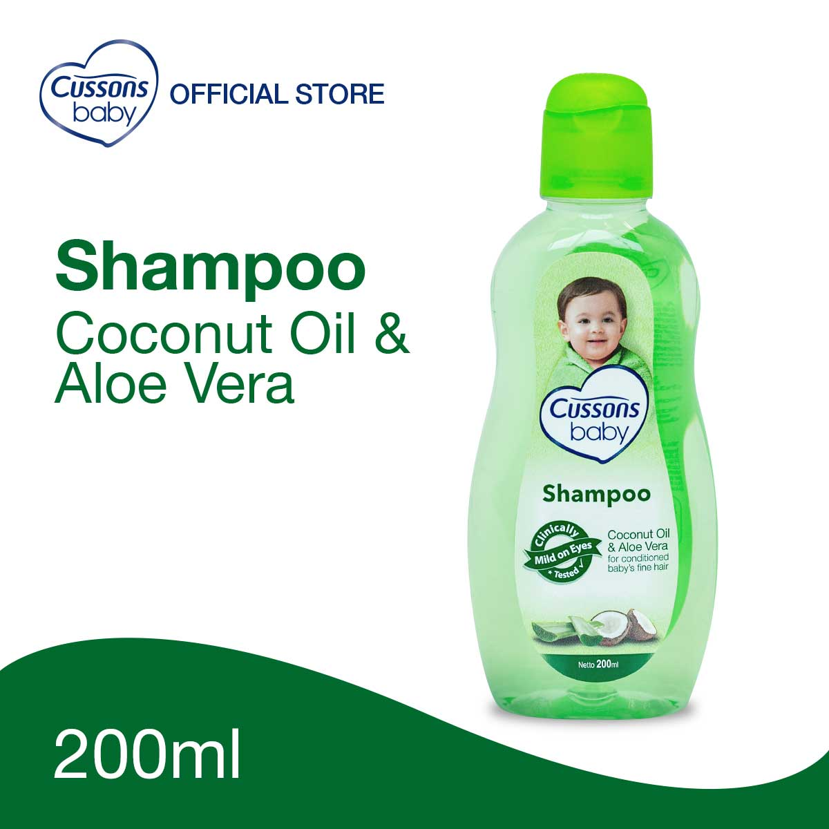 Cussons Baby Shampoo Coconut Oil & Aloe Vera 200ml