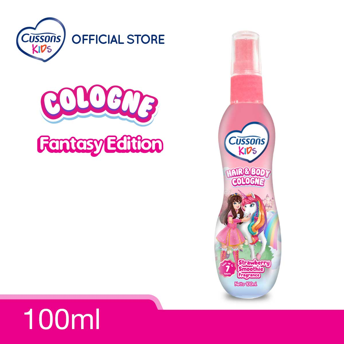 Cussons Kids Hair & Body Cologne Unicorn Strawberry Smoothie 100ml