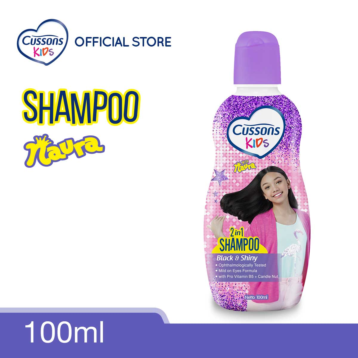 Cussons Kids Shampoo Naura Black & Shiny 100ml