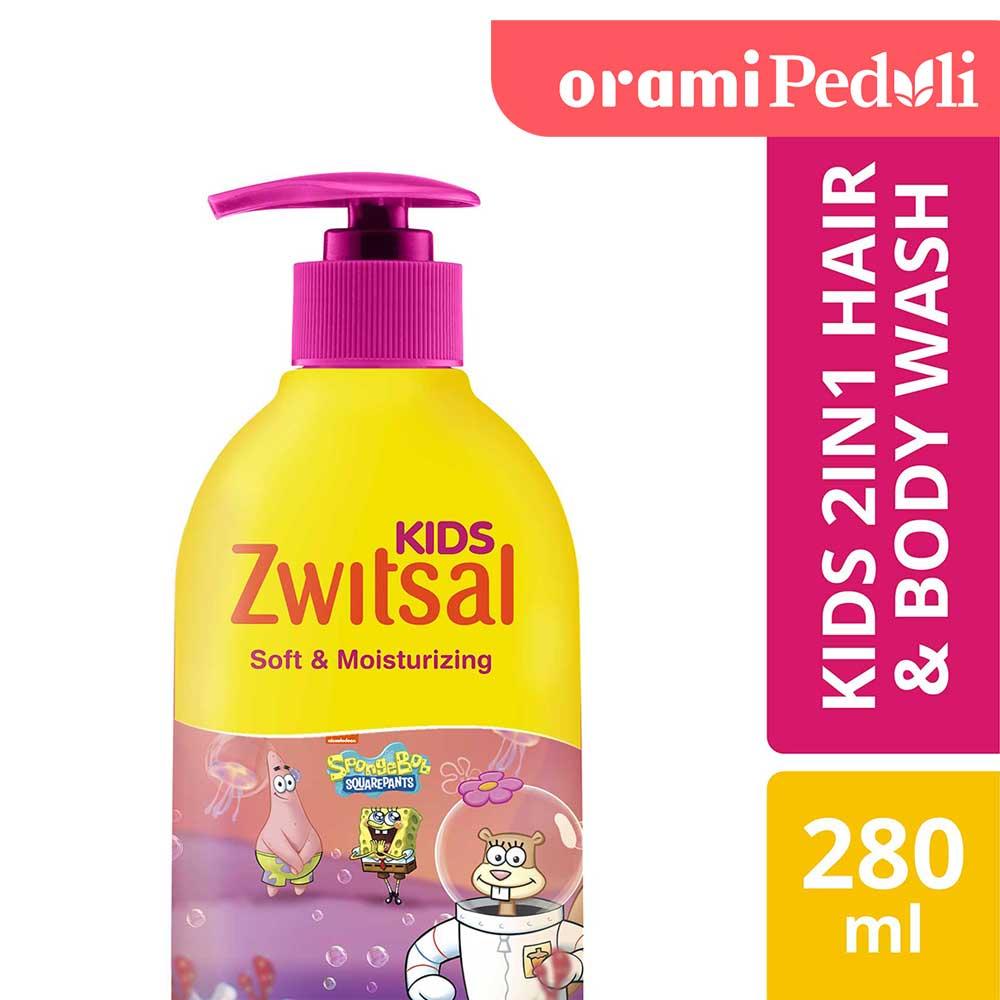 Zwitsal Kids 2 In 1 Sabun Mandi Cair Anak Soft And Moisturizing 280ml
